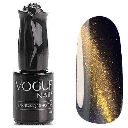 Vogue Nails, Гель-лак кошачий глаз - Искры фейерверка №026 (10 мл.)Vogue Nails<br>Гель-лак, сине-черный,с золотистым перламутром, плотный<br>