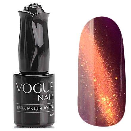 Vogue Nails, Гель-лак кошачий глаз - Украшение царицы №028 (10 мл.)Vogue Nails<br>Гель-лак, сливовый,с оранжевым перламутром, плотный<br>