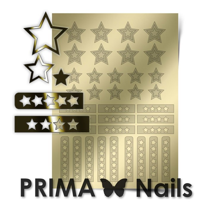 PrimaNails, Металлизированные наклейки для дизайна UZ-02, ЗолотоМеталлизированные наклейки<br>Металлизированные наклейки PRIMA NAILS - модный тренд в дизайне ногтей, который актуален для любого сезона!<br>
