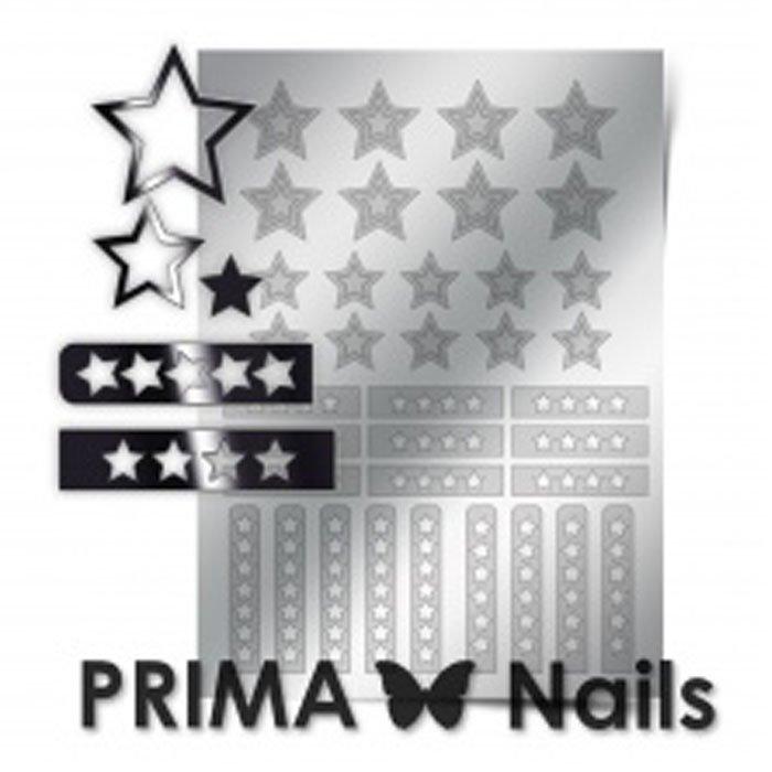 PrimaNails, Металлизированные наклейки для дизайна UZ-02, СереброМеталлизированные наклейки<br>Металлизированные наклейки PRIMA NAILS - модный тренд в дизайне ногтей, который актуален для любого сезона!<br>