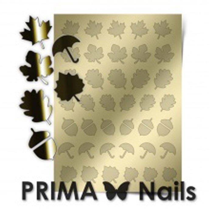 PrimaNails, Металлизированные наклейки для дизайна FL-06, ЗолотоМеталлизированные наклейки<br>Металлизированные наклейки PRIMA NAILS - модный тренд в дизайне ногтей, который актуален для любого сезона!<br>