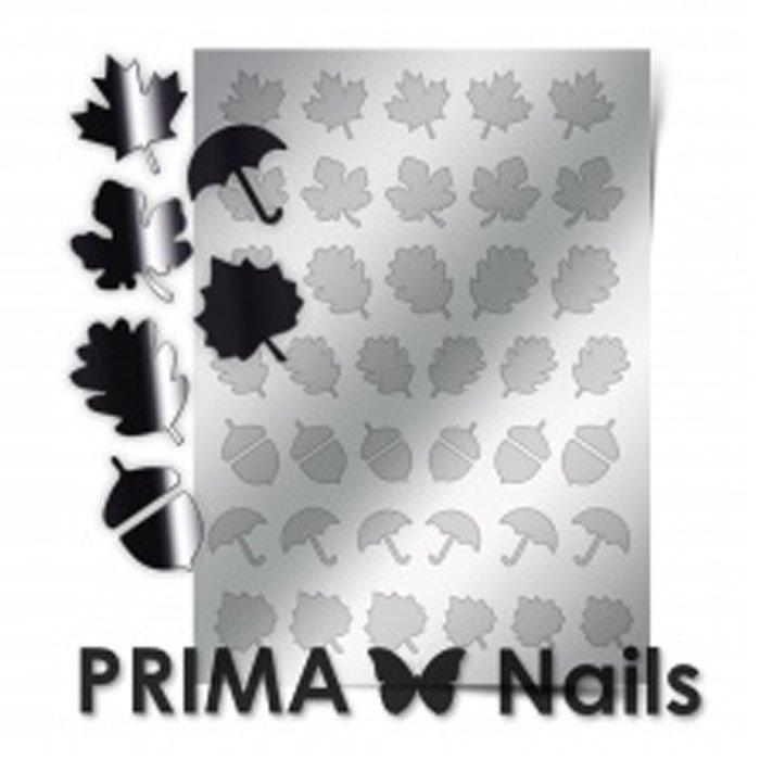 PrimaNails, Металлизированные наклейки для дизайна FL-06, СереброМеталлизированные наклейки<br>Металлизированные наклейки PRIMA NAILS - модный тренд в дизайне ногтей, который актуален для любого сезона!<br>