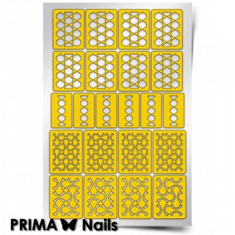 PrimaNails, Трафарет для дизайна ногтей - Абстракция - 2PrimaNails<br>Самоклеющиеся трафареты<br>
