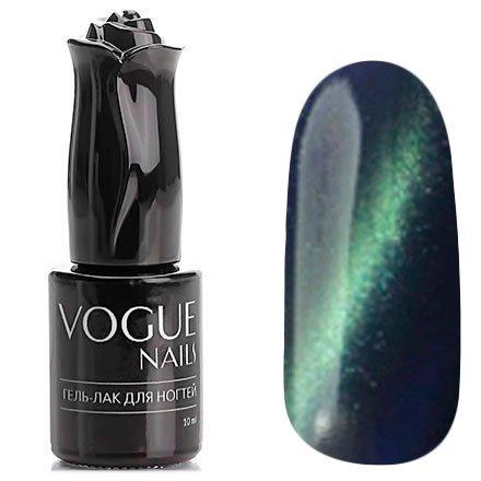 Vogue Nails, Гель-лак кошачий глаз - Земля №035 (10 мл.)Vogue Nails<br>Гель-лак,темно-синий, с зеленым перламутром, плотный<br>