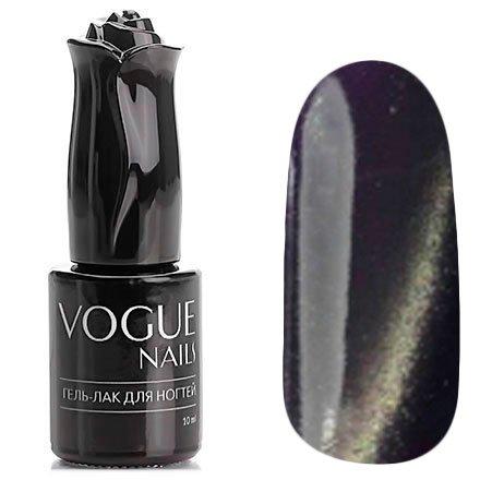 Vogue Nails, Гель-лак кошачий глаз - Плутон №036 (10 мл.)Vogue Nails<br>Гель-лак, черно-фиолетовый, с перламутром, плотный<br>