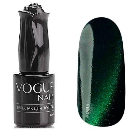 Vogue Nails, Гель-лак кошачий глаз - Венера №037 (10 мл.)Vogue Nails<br>Гель-лак,болотно-зеленый, со светло-зелеными микроблестками, плотный<br>