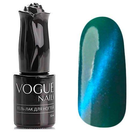 Vogue Nails, Гель-лак кошачий глаз - Уран №039 (10 мл.)Vogue Nails<br>Гель-лак,изумрудный зеленый, с синим перламутром, плотный<br>
