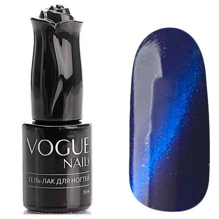 Vogue Nails, Гель-лак кошачий глаз - Нептун №040 (10 мл.)Vogue Nails<br>Гель-лак,темно-лазурный, с синими микроблестками, плотный<br>