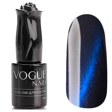 Vogue Nails, Гель-лак кошачий глаз - Сатурн №042 (10 мл.)Vogue Nails<br>Гель-лак,иссиня-черный, перламутровый, плотный<br>
