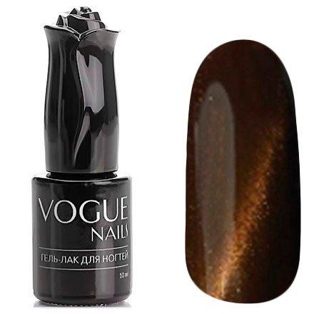 Vogue Nails, Гель-лак кошачий глаз - Латона №052 (10 мл.)Vogue Nails<br>Гель-лак,коричневый, с золотым перламутром, плотный<br>