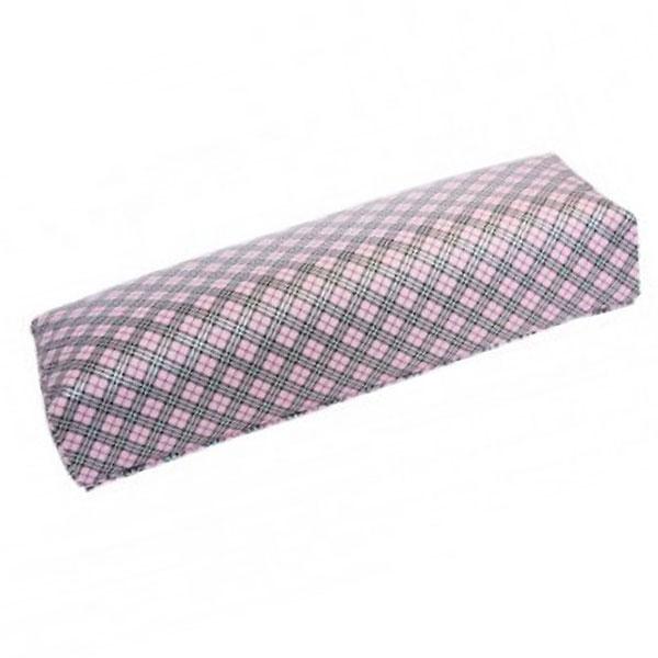 TNL, Подлокотник кожаный для рук (клеточка, розовая) (TNL Professional (Корея))