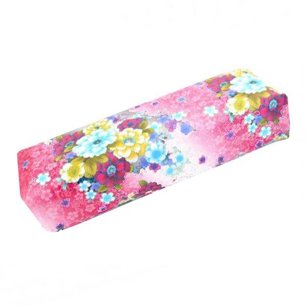 TNL, Подлокотник кожаный для рук (Цветочный принт, розовый) (TNL Professional (Корея))