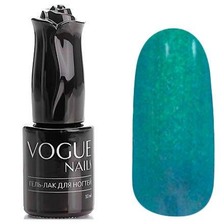 Vogue Nails, Гель-лак хамелеон - Загадочный вечер №022 (10 мл.)Vogue Nails<br>Гель-лак,нежно-изумрудный/лиловый, с голубыми микроблестками, полупрозрачный<br>