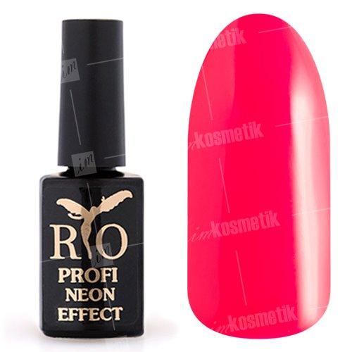 Rio Profi, Гель-лак Neon Effect №001 (7 мл.)Rio Profi<br>Гель-лак неон, розовый, плотный<br>