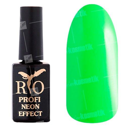 Rio Profi, Гель-лак Neon Effect №002 (7 мл.)Rio Profi<br>Гель-лак неон, светло-зеленый, плотный<br>