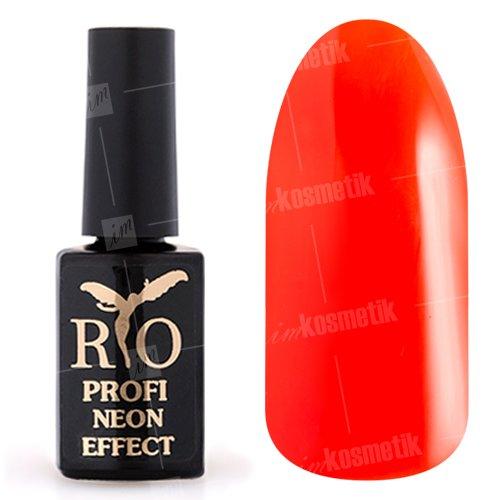 Rio Profi, Гель-лак Neon Effect №003 (7 мл.)Rio Profi<br>Гель-лак неон, оранжевый, полупрозрачный<br>