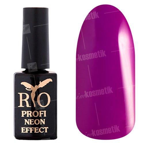 Rio Profi, Гель-лак Neon Effect №006 (7 мл.)Rio Profi<br>Гель-лак неон, сиренево-лиловый, плотный<br>