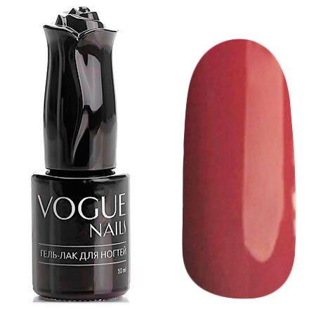 Vogue Nails, Гель-лак - Красная помадка №132 (10 мл.)Vogue Nails<br>Гель-лак,красно-бордовый, без блесток и перламутра, полупрозрачный<br>