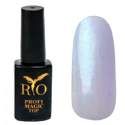 Rio Profi, Magic Top - Волшебный Топ без липкого слоя №2 (7 мл.)Rio Profi<br>Волшебный топ с синими микроблестками, глянцевый<br>