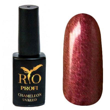 Rio Profi, Гель-лак Хамелеон №14 (7 мл.)Rio Profi<br>Гель-лак хамелеон, насыщенный желто-коричневый с розовыми микроблестками , глянцевый<br>