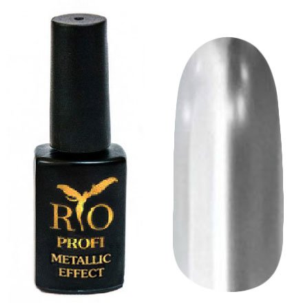 Rio Profi, Metallic Effect №2 (7 мл.)Rio Profi<br>Гель-лак металлик, серебро, плотный<br>