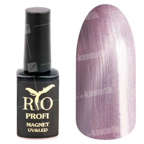 Rio Profi, Гель-лак - Магнитный Кошачий глаз №17 (7 мл.)Rio Profi<br>Гель-лак Кошачий глаз, серебро, перламутр, плотный<br>