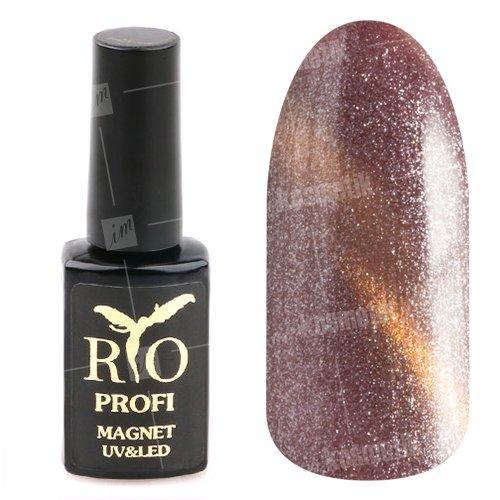 Rio Profi, Гель-лак - Магнитный Кошачий глаз №22 (7 мл.)Rio Profi<br>Гель-лак Кошачий глаз, светлая слива с разноцветным шиммером, плотный<br>