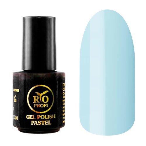Rio Profi, Gel Polish Pastel №5 (3,5 мл.)Rio Profi<br>Гель-лак серии Пастель, голубой цвет, плотный<br>
