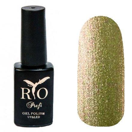 Rio Profi, Magnet Northern Lights - Магнитный гель-лак Северное Сияние №2 (7 мл.)Rio Profi<br>Гель-лак Магнитный Северное Сияние, золотистый с шиммером, плотный<br>