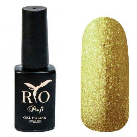 Rio Profi, Magnet Northern Lights - Магнитный гель-лак Северное Сияние №5 (7 мл.)Rio Profi<br>Гель-лак Магнитный Северное Сияние, золото с шиммером, плотный<br>