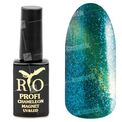 Rio Profi, Гель-лак - Сияющий Магнитный Кошачий глаз №8 (7 мл.) (RIO Profi (Россия))