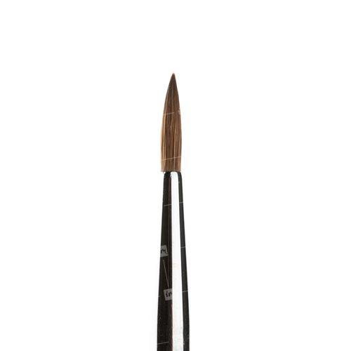 ruNail, Finest Kolinsky NER №4Кисти для моделирования акрилом<br>Кисть RuNail из натурального волокна (колонок «Экстра») для акрилового дизайна и лепки<br>