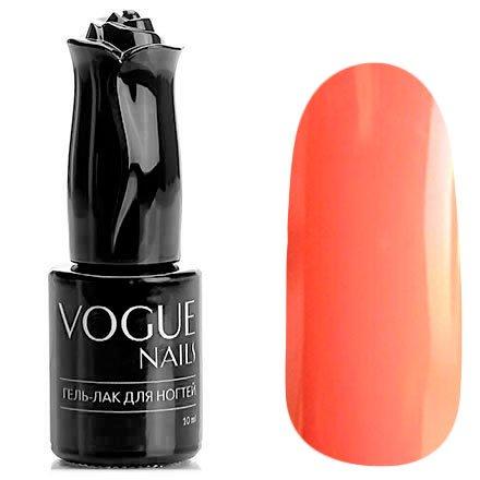Vogue Nails, Гель-лак - Цветущая хризантема №404 (10 мл.)Vogue Nails<br>Гель-лак, ярко-коралловый, без блесток и перламутра, плотный<br>