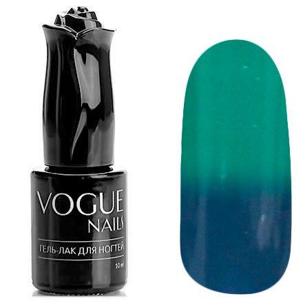 Vogue Nails, Гель-лак термо - Морозный день №705 (10 мл.)Vogue Nails<br>Термо гель-лак, бирюзовый/синий, без блесток и перламутра, плотный<br>