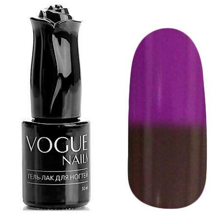 Vogue Nails, Гель-лак термо - Уютный плед №706 (10 мл.)Vogue Nails<br>Термо гель-лак, шоколадный/фиолетовый, без блесток и перламутра, плотный<br>