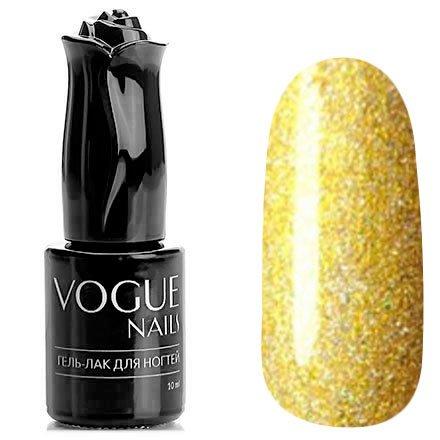 Vogue Nails, Гель-лак - Брызги шампанского №708 (10 мл.)Vogue Nails<br>Гель-лак, золотой, с блестками, плотный<br>