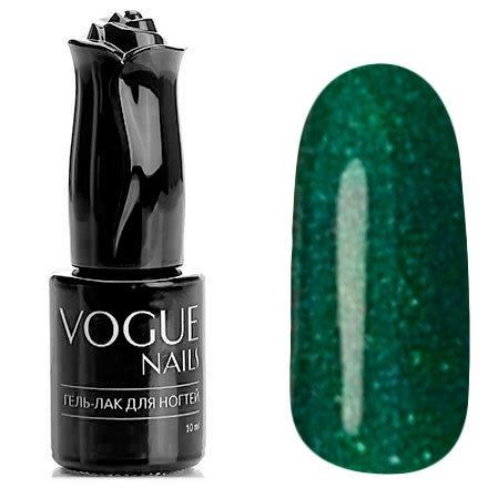 Vogue Nails, Гель-лак - Праздничная гирлянда №710 (10 мл.)Vogue Nails<br>Гель-лак, зеленый, наполненный блестками зеленого и мульти-цвета, плотный<br>