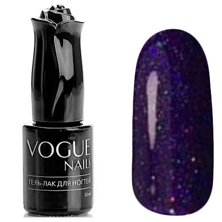 Vogue Nails, Гель-лак - Заветное желание №713 (10 мл.)Vogue Nails<br>Гель-лак,фиолетовый, с блестками, плотный<br>