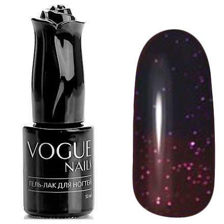 Vogue Nails, Гель-лак термо - Магическое число №741 (10 мл.)Vogue Nails<br>Термо гель-лак,черника/слива, с блестками, плотный<br>