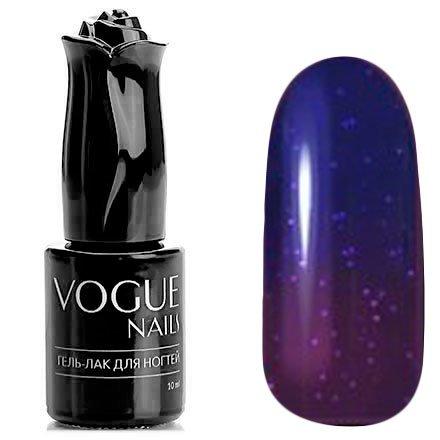 Vogue Nails, Гель-лак термо - Внезапная мистика №743 (10 мл.)Vogue Nails<br>Термо гель-лак,темно-фиолетовый/фиолетовый, с блестками, плотный<br>