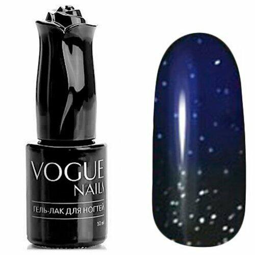 Vogue Nails, Гель-лак термо - Чёрная магия №745 (10 мл.)Vogue Nails<br>Термо гель-лак, синий/черный, с блестками, плотный<br>
