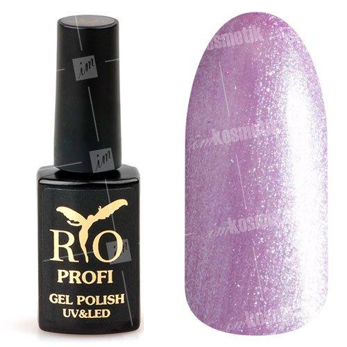 Rio Profi, Гель-лак каучуковый - Фиалковый перламутр №155 (7 мл.)Rio Profi<br>Гель-лак каучуковый, фиалковый, плотный, перламутровый<br>