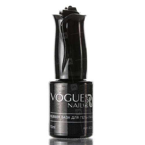 Vogue Nails, Rubber база для гель-лака (10 мл.)Vogue Nails<br>Прозрачная каучуковая база для гель-лака<br>