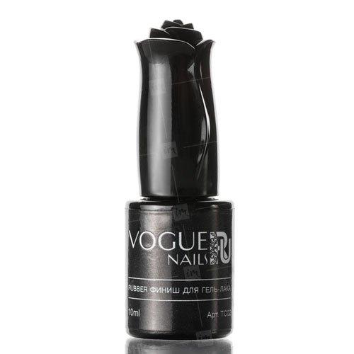 Vogue Nails, Rubber топ для гель-лака (10 мл.)Vogue Nails<br>Каучуковое топовое покрытие для гель-лака<br>