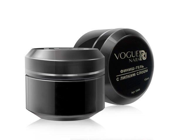 Vogue Nails, Финиш-гель с липким слоем G009 (15 гр.)Гели Vogue Nails<br>Топ для геля - последняя фаза в гелевой системе<br>