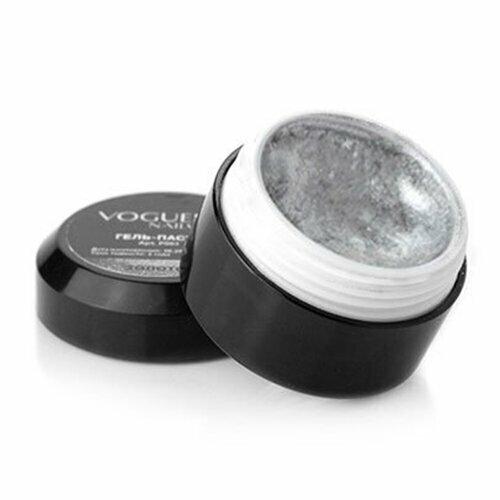 Vogue Nails, Гель-паста - Серебро P004 (5 гр.)Гель-краски Vogue Nails<br>Гель-паста - Серебро<br>