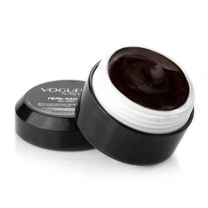 Vogue Nails, Гель-пластилин - Черный K005 (5 гр.)Гель-пластилин Vogue Nails<br>Используется для гелевой лепки, дизайна Объемное кружево<br>