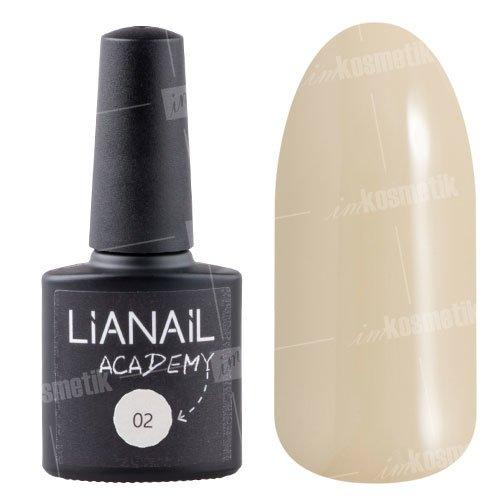 Lianail, Гель-лак Academy - Бежевый №02 (10 мл.)Lianail<br>Гель-лак бежевый оттенок, плотный<br>