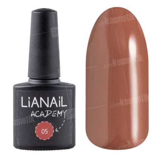Lianail, Гель-лак Academy - Глиняный коричневый №05 (10 мл.)Lianail<br>Гель-лак глиняный коричневый оттенок, плотный<br>