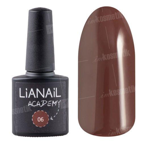 Lianail, Гель-лак Academy - Кофейный №06 (10 мл.)Lianail<br>Гель-лак кофейный оттенок, плотный<br>